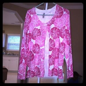 White Stag Cardigan Pink And White!
